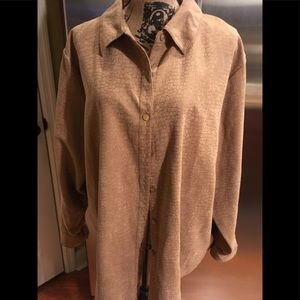 Relativity jacket / Over Shirt Tan color Size 3X